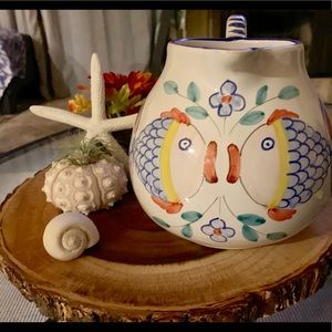 Other - Vintage Made in Italy ironstone Pitcher Fish